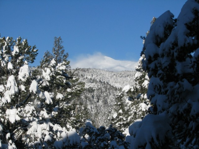 Sierra Blanca with snow