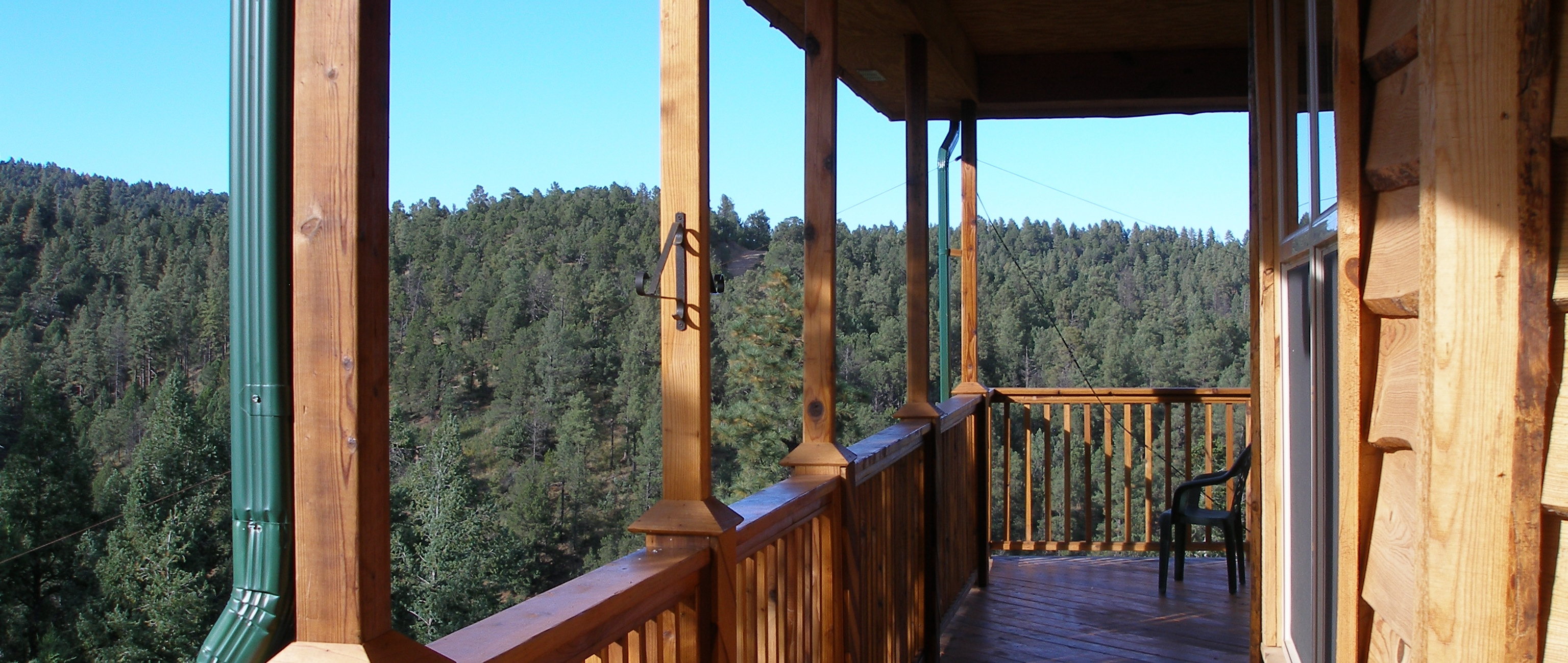 View from back deck of Twin Mountain Cabin, Upper Canyon Ruidoso