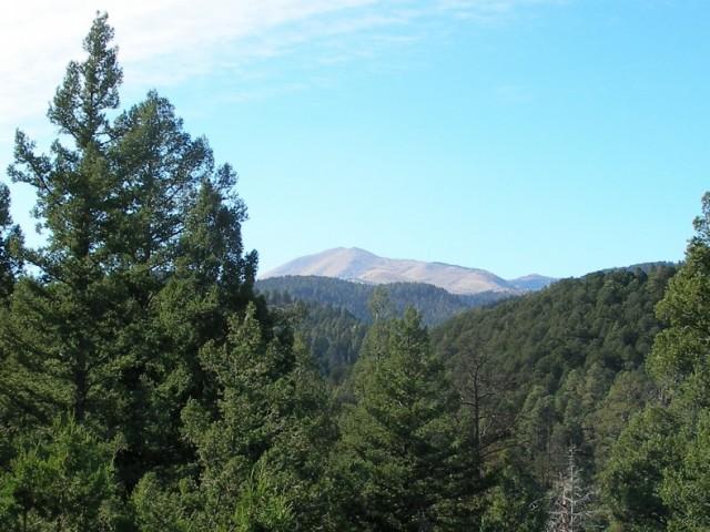 View of Sierra Blanca from Twin Mountain Cabin in Upper Canyon Ruidoso